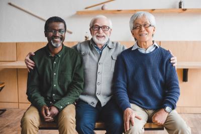 group of seniors smiling